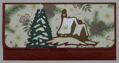 Christmas Money Holder: Christmas Noel & Wild Card Cricut Cartridges - Cuttlebug Winter Borders EF