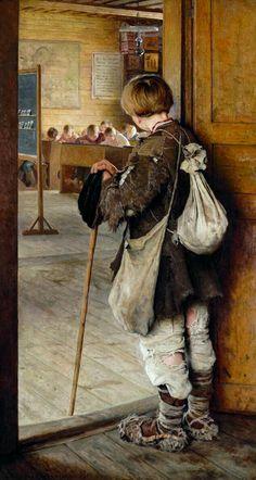 Nikolay Bogdanov-Belsky, at School Doors, 1897