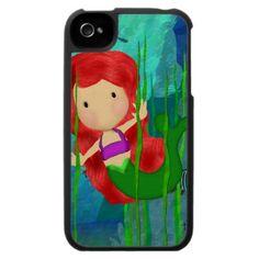 Mermaid Art iPhone 4 Case