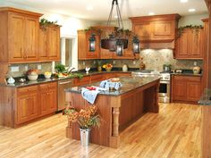 kitchen in luxury home with oak cabinets stock photo   20 Best Kitchens with Oak Cabinets images   Diy ideas for ...
