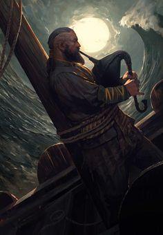 Hair male Bardo no … - Fantasy Figuren Fantasy Rpg, Medieval Fantasy, Fantasy Artwork, Fantasy World, Dungeons And Dragons Characters, D D Characters, Fantasy Characters, Arte Viking, Viking Art
