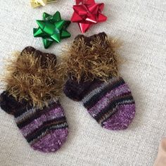 PERFECT CHRISTMAS GIFT Cozy socks hand knitted for a 1-2yr old child.                                                        Hand Made with love for you Be BLESSED MERRY CHRISTMAS AND HAPPY NEW YEAR Hand made Other