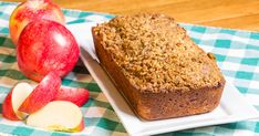 This is the BEST homemade apple bread recipe! You'll feel like you're sitting in grandma's kitchen enjoying a cup of tea with her! Great dessert or snack! Easy Homemade Recipes, Homemade Apple Pies, Apple Pie Recipes, Tea Recipes, Dessert Recipes, Homemade Sauce, Apple Bread, Pumpkin Bread, Lemon Cream Cheese Bars