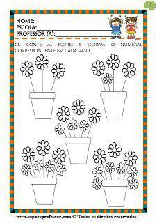 Atividades Matematica Contagem De Flores No Vaso Dia Das Maes