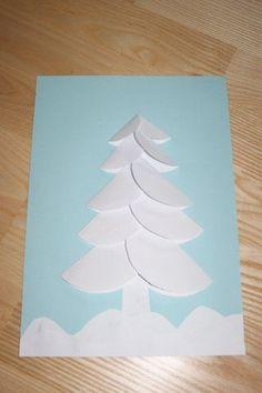 Ośnieżona choinka | Zima | prace plastyczne, edukacyjne Christmas Crafts For Kids, Handmade Christmas, Christmas Time, Christmas Cards, Xmas, Christmas Ornaments, Preschool Decor, Book Libros, Origami