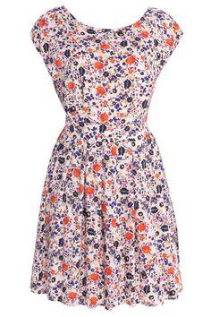 Floral Print Pleatskirt Dress By PAUL