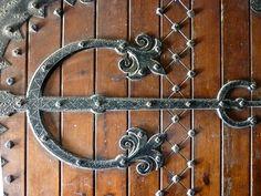 Ironwork on church door, St Matthew's Church, designed by John Johnson. Door Hinges, Door Knockers, St Matthews Church, John Johnson, Alphabet Photos, Make A Door, Alphabet Photography, Photo Letters, Iron Art