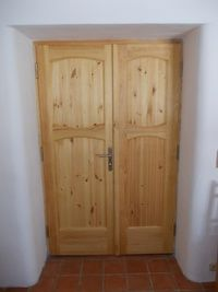 Dveře dvoukřídlé - borovice