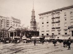 Lighting in 1890's New york city | New York City NYC Manhattan Park Row 1890's | Flickr - Photo Sharing!