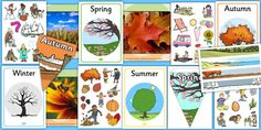 Four Seasons Display Pack- This fantastic pack features all the resources you could need for your 'Four Seasons' display!