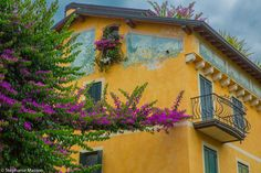 Sirmione by Stéphanie Masson on 500px - Colorful house with flowers in Sirmione, Lake Garda, Italy.