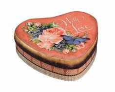 Vintage style Heart tin