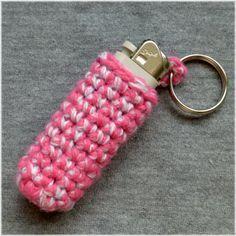 Key Chain Lighter Holder Crochet Pattern.
