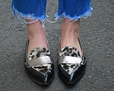 Boden pointed loafers animal print   WWW.LAFOTKA.COM