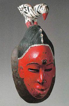 African Mask - Guro mask from Africa ≤≥≤≥≤≥≤≥≤≥≤≥≤≥≤≥≤≥≤≥≤≥≤≥≤≥≤≥ ♥ Gaby Féerie créateur de bijoux à thèmes en modèle unique. Des pièces originales à ne pas manquer ♥ Présente.sur.pinterest.➜ https://fr.pinterest.com/JeanfbJf/pin-index-bijoux-de-gaby-f%C3%A9erie/ et.sa.boutique.➜ http://www.alittlemarket.com/boutique/gaby_feerie-132444.html