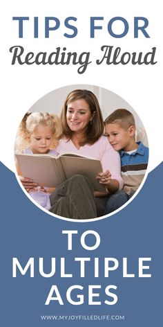Don't let the various ages of your house full of kids keep you all from enjoying reading a book aloud together. These tips help families with a wide age range of kids enjoy reading together and develop a love of reading for all. #familyreadaloud #booksforfamilies #readingaloudtokids Shared Reading, Reading Time, Best Children Books, Young Children, Read Aloud Books, How To Start Homeschooling, Reading Levels, Chapter Books, Homeschool Curriculum