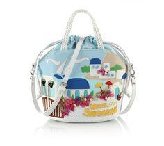 Handbag con stampa Santorini | Collezione borse Braccialini Primavera Estate 2013