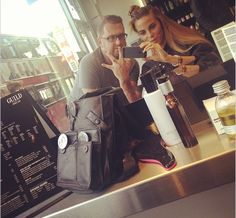 Victoria Baker-Harber from Made in Chelsea with Kurobuta head chef Scott Hallsworth on the King's Road.