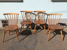 A personal favourite from my Etsy shop https://www.etsy.com/uk/listing/222835317/set-of-four-1950s-ercol-original-bow
