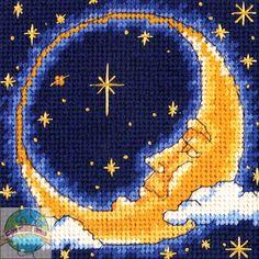 needlepoint circle crescent moon pattern | Dimensions Minis - Moon Dreamer - Cross Stitch World