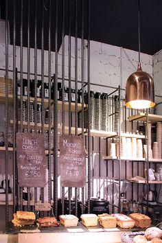 A creative project by VAV Architescts in Dublin. Bear Market Coffee, Blackrock Village | ALU MiND