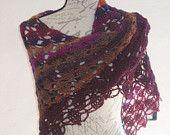 Autumn leaves crochet shawl