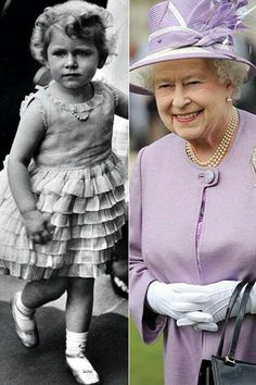 Queen Elizabeth ll then and now. Amazing picture for Queen Elizabeth II when she was a child. Lady Diana, Jorge Vi, Die Queen, Prinz William, Celebrities Then And Now, Isabel Ii, Her Majesty The Queen, Prince Phillip, Queen Of England