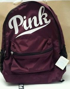 Victoria's Secret PINK Campus Backpack Book bag Maroon Burgundy ...