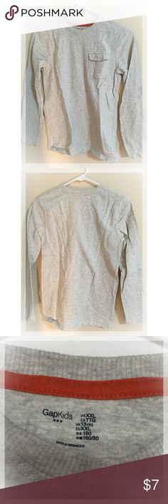 Boy's GAP Gray long sleeve shirt (size 13) Excellent condition! GAP Shirts & Tops Tees - Long Sleeve