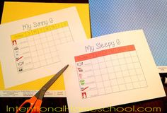 Using a Chore Chart with toddlers {Love this idea}
