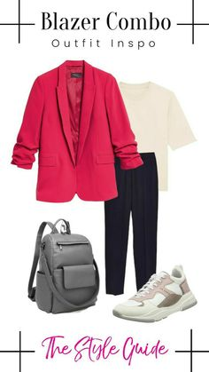 Grey Backpacks, The Selection, Trousers, Blazer, How To Wear, Trouser Pants, Pants, Blazers