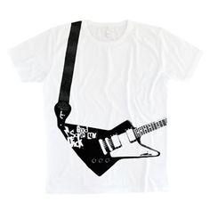 Con esta camiseta y un curso de guitarra puedes ser el próximo Joe Satriani.  Camiseta con tintas libres de tóxicos.