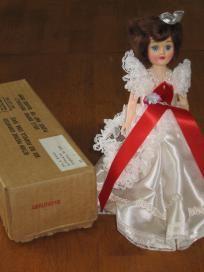 Blue Bonnet Debutante Vintage Plastic Doll
