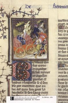 Vengeance of Berenice of Pontus (aka Laodice), Queen of Cappadocia. From Boccacio, de mulieribus claris/Le livre de femmes nobles et renomées (trad. anonyme), early 15C French (Paris). Bibliothèque nationale, Paris. MS Français 598, fol. 109v
