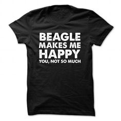 Beagle Makes Me Happy T Shirts, Hoodies, Sweatshirts. CHECK PRICE ==► https://www.sunfrog.com/Funny/Beagle-Makes-Me-Happy-Black-48265484-Guys.html?41382