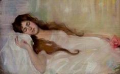 Dama durmiendo - María del Dulce Nombre Muntadas  Pujol  o María Muntadas de Capará. (Barcelona, circa 1890 – Barcelona, 30 marzo 1965) Barcelona, Artwork, Lady, Sweet, Work Of Art, Barcelona Spain