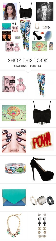 """""""Niall's Carnival Comic Birthday Party... Harry's Partner"""" by mary-5so1ds ❤ liked on Polyvore featuring Marvel Comics, Cotton Candy, Topshop, Ciaté, Forever 21, Marvel, Parfois, Just Acces, J.Crew and 1&20 Blackbirds"""