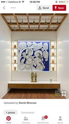 Temple Room, Pooja Room Door Design, Pink Bedroom Decor, Diy Home Furniture, Indian Interiors, Puja Room, Indian Living Rooms, Temples, Krishna