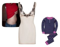 """""""Ayaka & Nanako PJs"""" by shattereddemon ❤ liked on Polyvore featuring L'Agent By Agent Provocateur"""