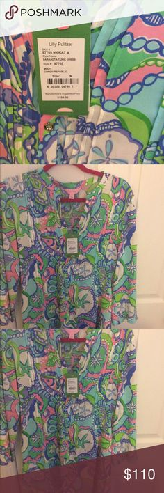 Lily Pulitzer Sarasota Tunic NWT Medium Lily Pulitzer- Sarasota Tunic- New With Tags- Conch Republic- Medium Lilly Pulitzer Dresses