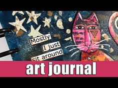 Art journal | Gel plate printing, stenciling and collage