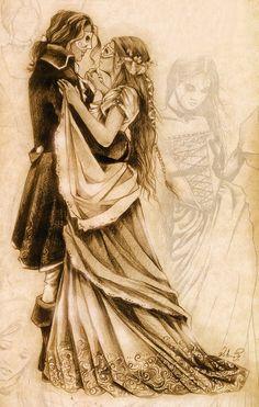 Victoria Frances - Stone Tears - Puppet Theatre Una de las ilustraciones que aparece en su libro Favola