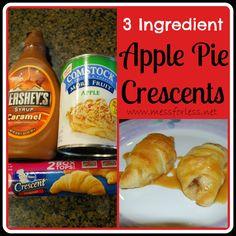 Crescent Roll Recipe, Apple Pie Crescents
