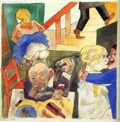 George Grosz (German, American 1893–1959) [Dada, Neue Sachlichkeit] Ausschweifung, Berlin Night Club.