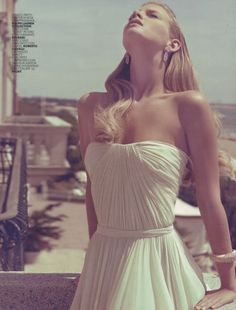 Beautiful fold white gown