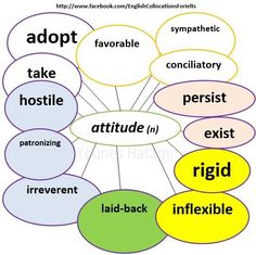 Another list of collocations with the word 'attitude'.