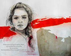 #ARTBOOK #LIBRO #ILUSTRACION #CROWDFUNDING - #NAMELESS es un maravilloso libro que reúne los retratos ilustrados de 15 niños refugiados de guerra y las historias creadas para mitigar su anonimato Crowdfunding Verkami: http://www.verkami.com/projects/13814-nameless
