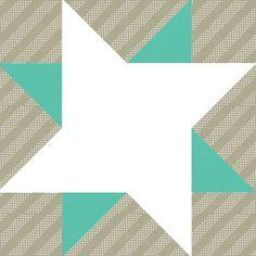 Pale Star Quilt Pattern Block