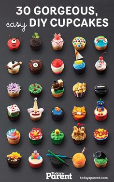 Petits gâteaux à gogo - Cupcake Party Ideen - Cupcakes Cupcake Party, Deco Cupcake, Kid Cupcakes, Cupcake Cookies, Monster Cupcakes, Cupcake Frosting, Easy Animal Cupcakes, Cupcake Ideas Birthday, Cute Cupcake Ideas