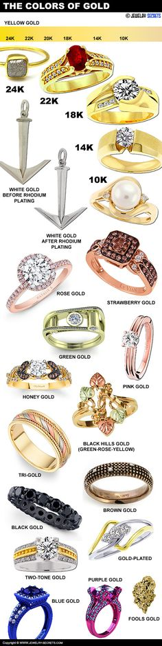 ► ► Check out all the Different Hues and Colors of Gold! Cool Stuff! color